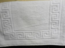 Tapis de bain blanc coton