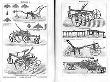 Kultivator Grubber Landwirtschaft Geräte Pflug   Stich v. 1905