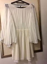 Alice Olivia Blanco-Off White & vestido de Bohemia, Midi, Seda & viscosa, talla S