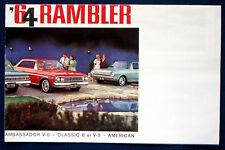 Prospekt brochure 1964 American Motors AMC Rambler Ambassador * American (USA)