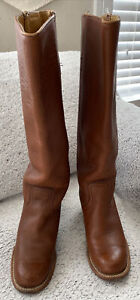 FRYE 6505 Campus brown leather boots Size 6 Vintage - made In USA