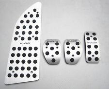 Aluminum Car  Foot Pedals Footrests & Pla For Peugeot 307 308  (2010-2013)408 MT