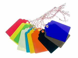 10 Gift Tags Colourful Miniblings Present Name Plate Tag Rear White