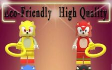 Sonic lego 2 minifiguras distintas personalizadas oferta + 1 pin superheroes