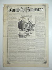 Summer Stove, Field Fence, Grain & Grass Harvester, Plow, Antique Article 1858