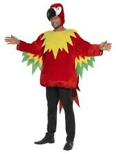 Adult Parrot Costume Jungle Bird Animal Fancy Dress Outfit
