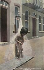Panama Panama City Young Naked Boy Taking Bath In Street From Stand Pipe sk1599a