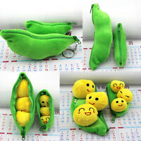 Cute Green Peasecod Plush Keychain Keyring Charm Bag Decor Key Ring Chain