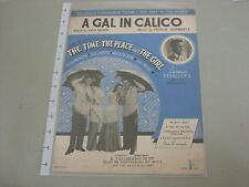 """Un GAL in Calico - """"il tempo, il luogo e la ragazza"""" SPARTITI MUSICALI"""