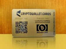 Bitcoin Cash / BCH Cryptocurrency Storage Wallet Cards / Gift