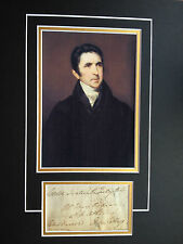 SIR JOHN BARROW - LORD OF THE ADMIRALTY - EXCELLENT SIGNED PHOTO DISPLAY