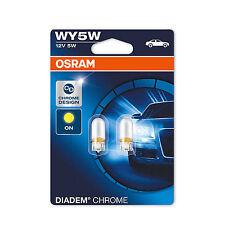 2x jeep wrangler genuine osram diadem chrome amber side indicator light bulbs