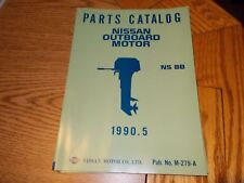Nissan M-279-A Outboard Boat Motor Parts Catalog Ns 8B 1990.5