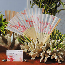Beach Fan with Underwater Seascape Wedding Fan Set of 6