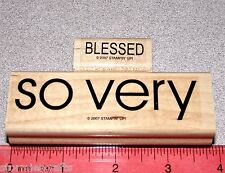 Stampin Up So Very Stamp Singles So Very Border with Small Blessed Bold Script