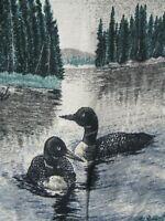 "Biederlack Throw Blanket Ducks -Trees - Lake 54"" X 76"" - Germany"