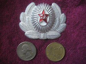 - Super RARE!!! Soviet White Metal Parade Cockade for AF Officer 1960's-1970's