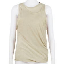 3.1 Phillip Lim Taupe Cotton Double Layered Tank Vest Top M IT42