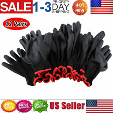 24Pcs/12 Pairs Nylon PU Coated Safety Work Gloves Safety Garden Grip Builders US