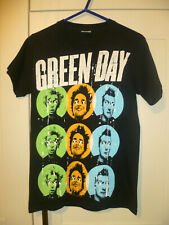"GREEN DAY - 2012 VINTAGE ""!UNO! !DOS! !TRE! "" BLACK T-SHIRT (S)"