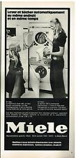 Publicité Advertising 1972 Machine à laver et Seche Linge Miele
