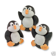 PENGUIN CAKE DECORATIONS MADE OF SUGAR JUST LIKE MONTY THE PENGUIN