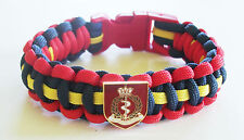RAMC (ROYAL ARMY MEDICAL CORPS) PARACORD WRISTBAND WITH BADGES