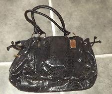 Ex condition vimoda cuir synthétique noir peau de serpent sac à main