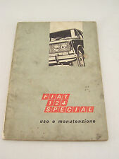 FIAT 124 SPECIAL ANNO 1968 MANUALE USO MANUTENZIONE ORIGINALE