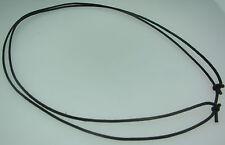 Noir cord collier 2mm d'épaisseur réglable idéal pour pendentifs Q3