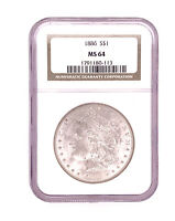 1886-P Morgan Silver Dollar NGC MS 64