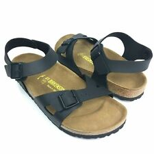 Birkenstock Women's RIO Birko-Flor BLACK Adjustable Sandals Size 40