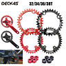 32/34/36/38T MTB Bike Chainring 104BCD Round/Oval Single Speed Chainwheel+Bolts