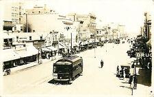 STREET SCENE - 1916, SASKATOON, Saskatchewan, RPPC, TROLLEY, VINTAGE POSTCARD
