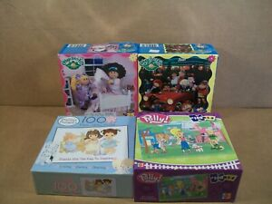 Lot of 4 ~ Children's Puzzles~Polly Pocket, Cabbage Patch Kids, Precious Moments