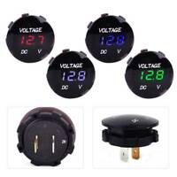 12-24V Car Boat LED Digital Voltage Meter Gauge Display Voltmeter Waterproof NT