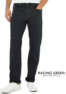 Racing Green Dark Green Pindot Straight Fit Trousers (RG07)