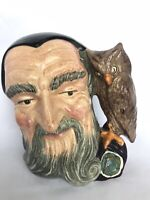 "ROYAL DOULTON TOBY CHARACTER FACE JUG MERLIN D6529 COPR 1959 7.5"" TALL"