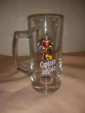Captain Morgan Rum and Cola Glass Tankard Great Condition 330ml w/ Handle VGC