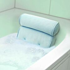 Bath Spa Cushion Pillow Neck Back Comfort Bathtub Tub Foam Support w/Suction Cup