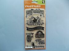 INKADINKADO RUBBER STAMPS CLEAR HALLOWEEN PHRASES NEW clear STAMP SET