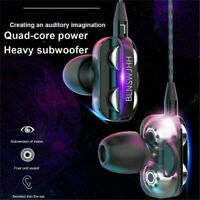 Super Bass In ear HIFI Stereo 3.5mm Headphone Headset Earphone Earbuds With Mic@