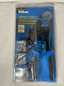IDEAL TeleMaster RJ-45/RJ-11 Kit Modular Plug Termination Crimp Tool 33-700 New