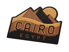 Cairo Egypt Iron On Travel Patch - Pyramids of Giza