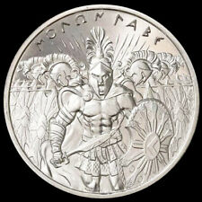 King Leonidas Greece Spartan Warriors Army 1 oz 999 Fine Silver Coin BU+