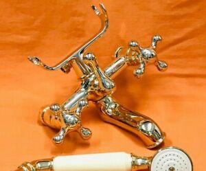 Gnutti Sebastiano Vintage Bathroom Solid Brass Faucet Hand Shower Italy