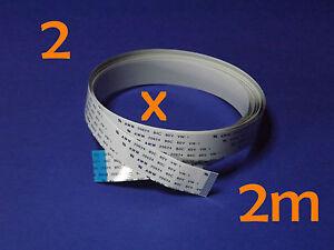 2 X FFC B 15Pin 1.0Pitch 200cm Raspberry Pi Ribbon Cable Kabel Flachbandkabel