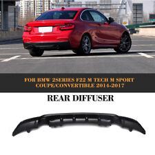 FRP Rear Bumper  Diffuser Lip Fit For BMW 2Series F22 M Tech M Sport  2014-2017