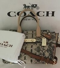 COACH 37187 SWAGGER 20 Colorblock Exotic Embossed Leather Carryall Handbag NWT