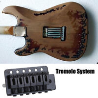 Black Tremolo Bridge Single Locking Vibrato System Set for ST Electric Guitar SG